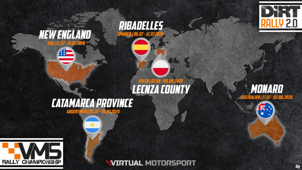 Dirt Rally 2.0 Liga Stages